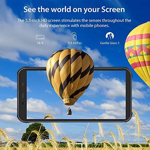 Téléphone Incassable, Blackview® BV5500 Plus Android 10 Smartphone Débloqué 4G avec Écran 5.5 Pouces, 3Go+32Go (SD 128Go… 5