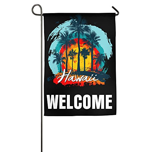 Garden Flag Demonstration Parade Flag Family Party Flag Match Flag Vintage Hawaiian Islands Garden Flag Holder Stand Cute Animals 1827inch - Hawaii Shopping In Hilo