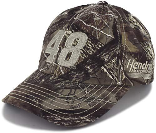 (Checkered Flag Jimmie Johnson 2019 TrueTimber Camo 48 NASCAR Hat )