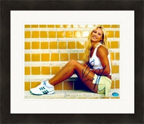 Anna Kournikova Signed Picture - Legend SI Swimsuit Model 8x10 Image #6 Matted & Framed - Autographed Tennis Photos