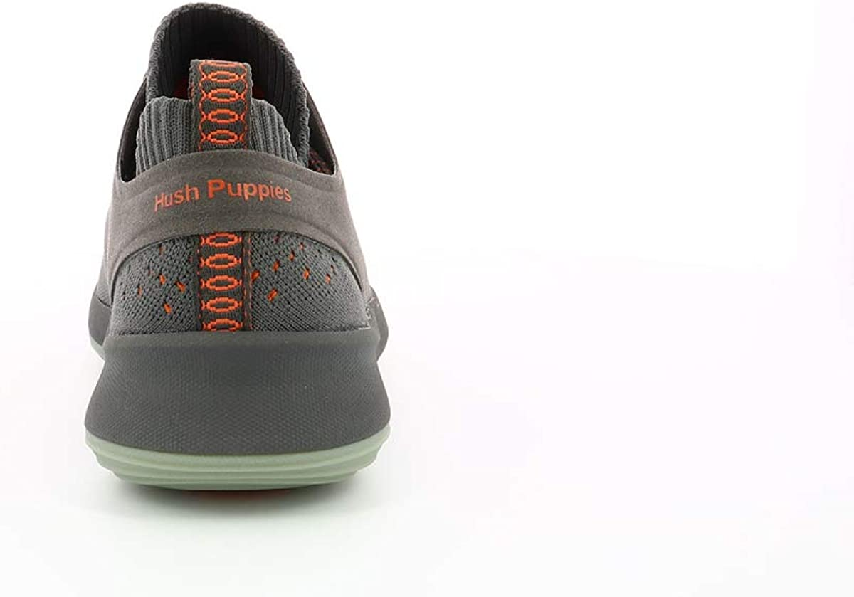 Hush Puppies Mens World BounceMax Lace Up Trainer Grigio