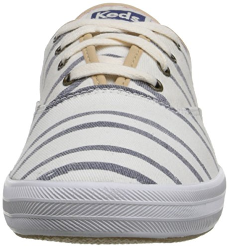 Washed Beach Keds Off Champion Stripe Women's Sneaker Fashion White pUqwS6