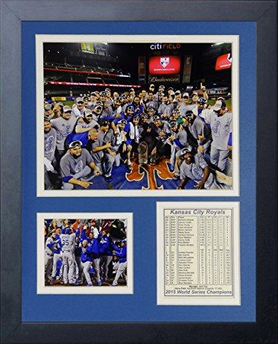 Legends Never Die MLB Kansas City Royals 2015 World Series Champions Mound Framed Photo Collage, 11