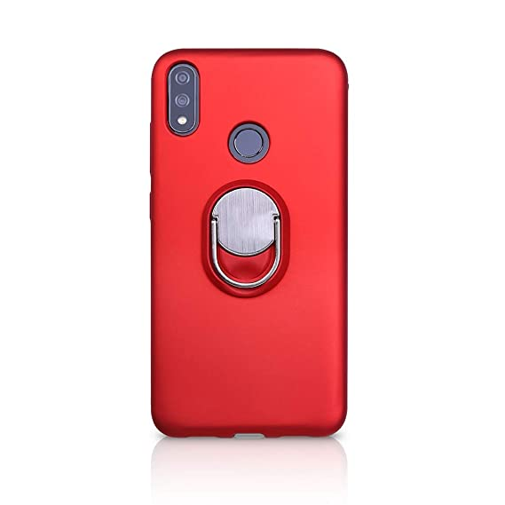 wholesale dealer 83fe9 df776 BLU VIVO XI+ Case (Verizon), Rotating Ring [ 360°Kickstand ] Soft Slim TPU  [ Ultra-Thin ] Protection Cases Cover Compatible with [ Magnetic Car Mount  ...