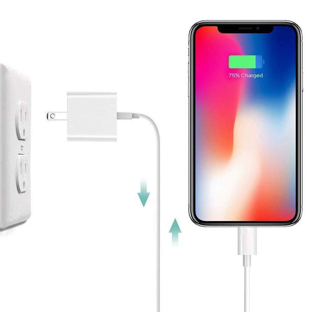 iPhone Charger, 2 Sets iPhone Charger Wire Data Sync Charging Cord Compatible with iPhone X/8 Plus/7 Plus/6s/6 Plus/6s Plus/5/5s/5c/XS/XR/XS Max[2-Pack] by Generic (Image #7)
