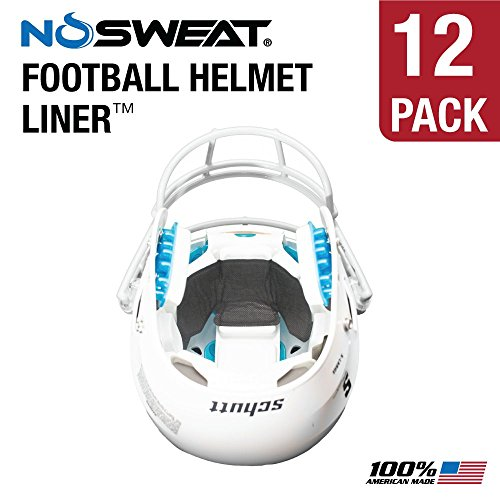 No Sweat Football Helmet Liner & Sweat Absorber (12 Pack)