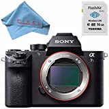 Sony ILCE7SM2/B Alpha a7S II Mirrorless Digital Camera (Body Only) + Toshiba Flash Air III Wireless SD Memory Card 16GB + Fibercloth Bundle