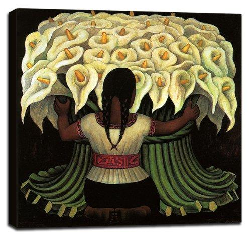 Flower Seller El Vendedor De Flores Stretched Canvas Art Print - 28x28in