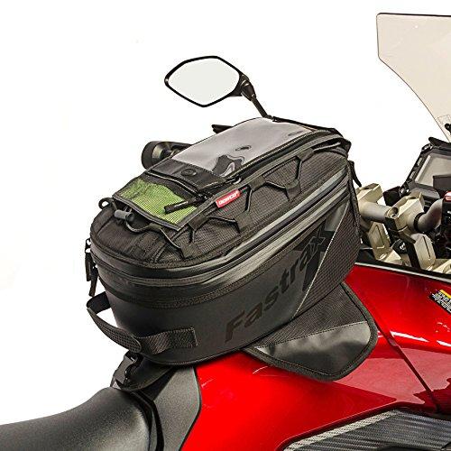00 Backroads Series: Water Resistant Reflective Motorcycle Tank Bag, Black, 27 Liter Capacity ()