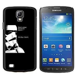 Qstar Arte & diseño plástico duro Fundas Cover Cubre Hard Case Cover para Samsung Galaxy S4 Active i9295 (Stormtrooper Pensamientos)