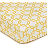 American Baby Company 100-Percent Cotton Percale Fitted Crib Sheet, Golden Yellow Twill Gotcha