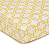 American Baby Company 100% Cotton Percale Fitted Crib Sheet, Golden Yellow Twill Gotcha
