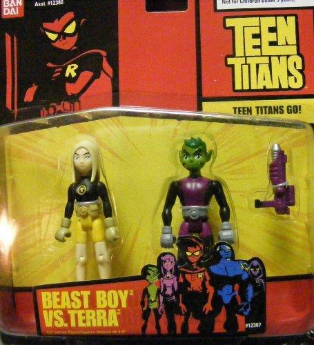 Teen Titans Action Figures Beast Boy & Terra HTF ()