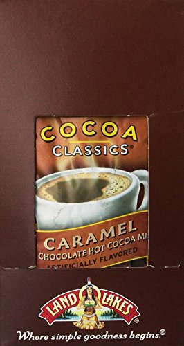 Caramel Chocolate Hot Chocolate - Land O Lakes Cocoa Classics, Chocolate & Caramel, 1.25-Ounce Packets (Pack of  36)