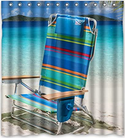 Image Unavailable Not Available For Color HOT Design Beach Chair Shower Curtain