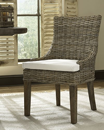 Padma'S Plantation ALF11-KUBU-S/2 Alfresco Dining Chair, Set of 2, Kubu Grey -