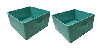 mainstays halfsize collapsible storage bins set of 2 spearmint