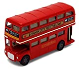 "London Double Decker Bus , Red - Motormax 76002 - 4.75"" Diecast Model Toy Car"