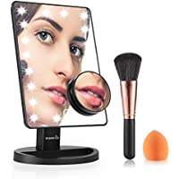 Easehold Lighted Makeup Vanity Mirror with 10X Magnification