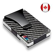 S-GEAR Slim Carbon Fiber Card Holder Money Clip RFID Blocking Metal Wallet + Band & Screwdriver