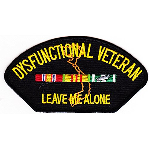 Vietnam Dysfunctional Veteran Patch Leave Me Alone