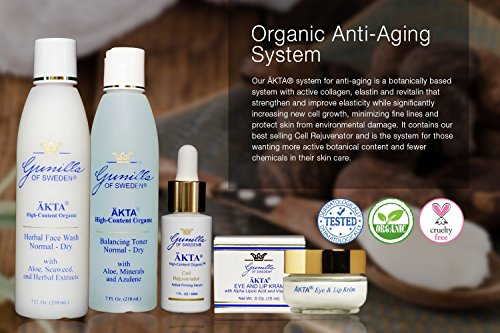 ÄKTA® by Gunilla of Sweden® Anti-Aging Skin Care System (Mature Skin): Based on Nutrient Rich Organic Aloe- Over a Dozen Organic Botanical Extracts Provide Anti-Aging Benefits- Skin is Noticeably Smoother, Plumper, and Radiant Looking- Alcohol and Oi