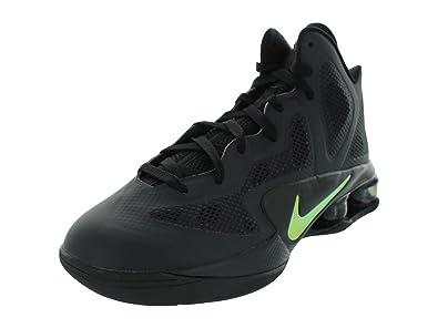 competitive price 01736 cc40e NIKE Shox Air Hyperballer Mens Basketball Shoes Black Metallic Luster-Dark  Grey 454154-