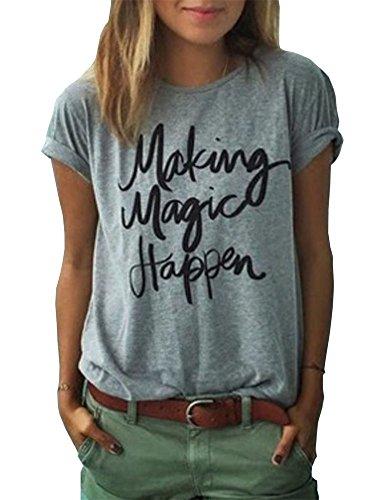 Haola+Women%27s+Summer+Street+Printed+Tops+Funny+Juniors+T+Shirt+Short+Sleeve+Tees+Grey1+XXL