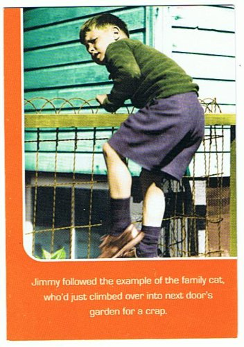 Happy Birthday Retro Rhetoric Greetings Card 0469 Emotional Rescue Next Door Cat Climb Climbing