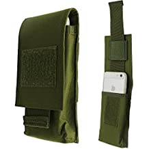 """LefRight Tactical Molle Vertical Waist Belt Large Pouch Bag Holster Cover with Pull Tab for 5.5"""" iPhone (Olive Drab)"""