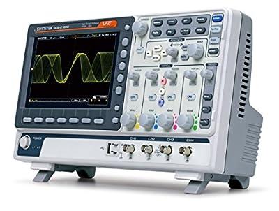 GW Instek GDS-2204E Digital Storage Oscilloscope, 4-Channel, 1 GSa/s Real-Time Sampling Rate, 200 MHz, 10M Memory Depth, VPO Technology