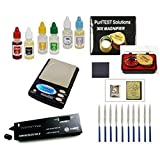 Gold and Silver Test Kit + CULTI SELECTOR II Electronic Diamond Gem Tester Fake cz Cubic Zirconia Detector + Digiweigh Jewelry Scale
