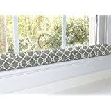 Draft Stopper - Grey - Unfilled Window or Door Draft Stopper