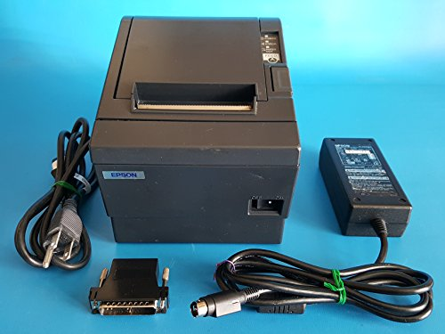 T88iii Receipt Printer (Epson TM-T88III Model M129C Thermal Receipt Printer Serial Interface RS-232 With Epson AC Adapter and Power Cord)