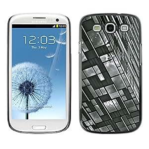 [Neutron-Star] Snap-on Series Teléfono Carcasa Funda Case Caso para Samsung Galaxy S3 [Ingeniería de Edificación Blanco Negro]