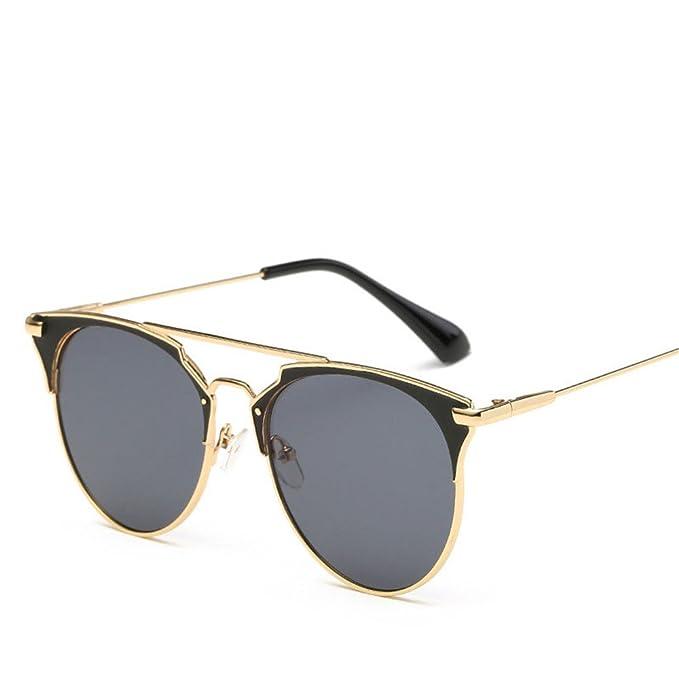 Vintage de lujo gafas de sol mujer marca redonda Designer ...