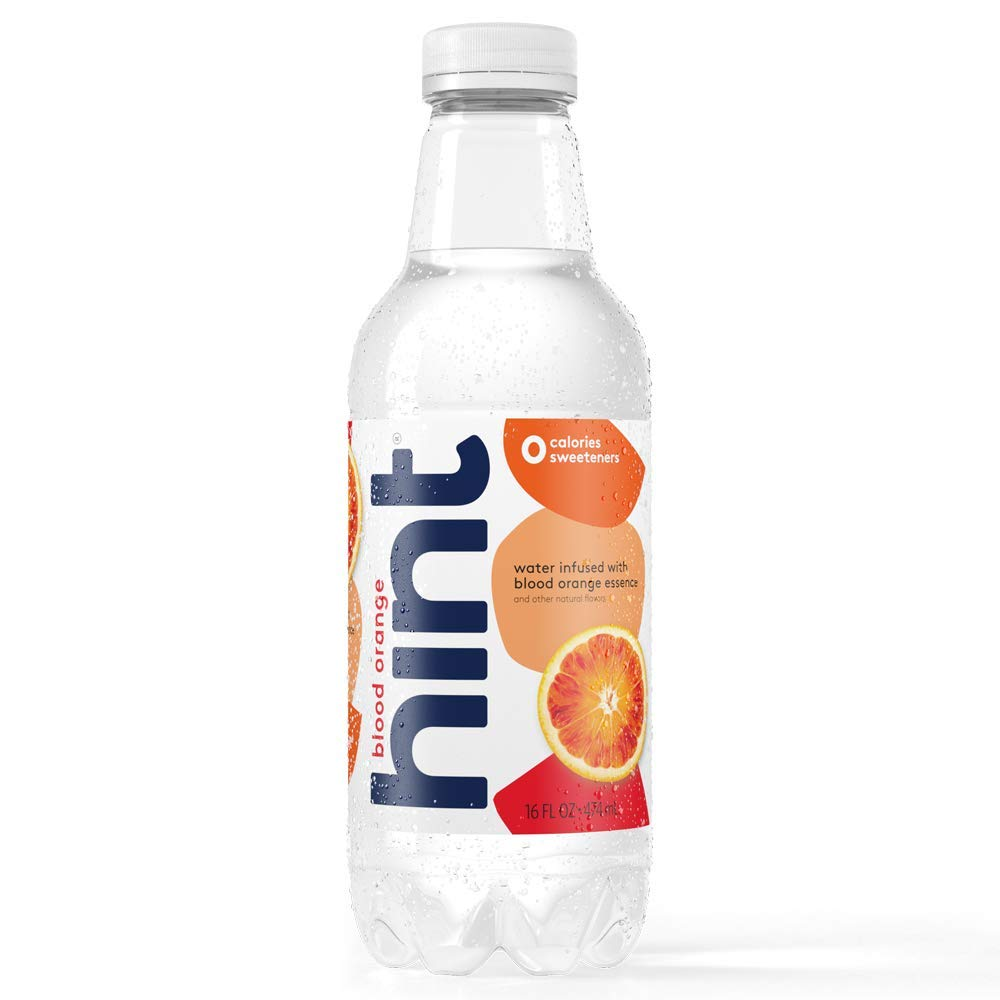 Hint Water Blood Orange, (Pack of 12) 16 Ounce Bottles, Pure Water Infused with Blood Orange, Zero Sugar, Zero Calories, Zero Sweeteners, Zero Preservatives, Zero Artificial Flavors
