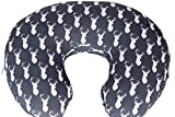 Maternity Breastfeeding Pillow Cover by Danha-Newborn Baby Feeding Cushion Case-Cute Donut Shape Wedge Pillow-Best Infant Support-for New Moms-Deer Head Prints Slipcover-Breathable Soft Fabric: more info
