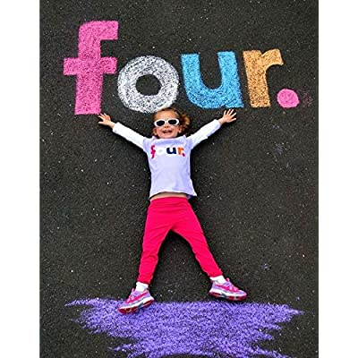 Vercico Jumbo Sidewalk Chalk 36 Pieces For Kids Toddlers Outdoor Side Walk Outside Driveway Easter Street Chalk Art: Office Products
