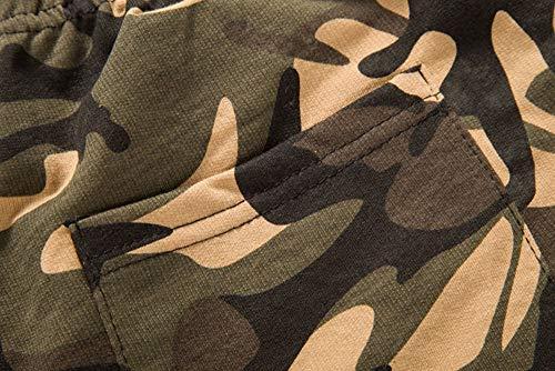Casual Uomo Estivi Giovane Moda Militari Mimetici Kaffee Pantaloncini Cotone Da Spiaggia Festivo Abbigliamento In wtfdqISA