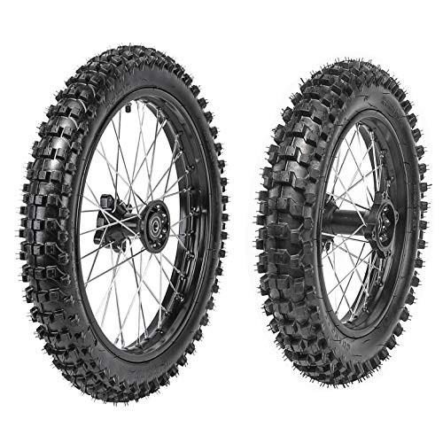 WPHMOTO Front 70/100-17 + Rear 90/100-14 Wheels Tires For Dirt Pit Bikes ()
