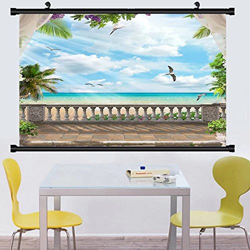 Gzhihine Wall Scroll Posterparadise under the palms ,Wall Ar