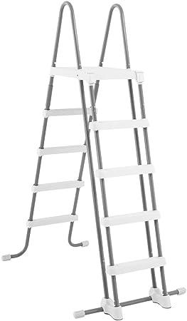 ESCALERA Intex CON ESCALERAS DESMONTABLES (PARA PISCINAS DE 52 PULGADAS), gris, 130x33x182 cm