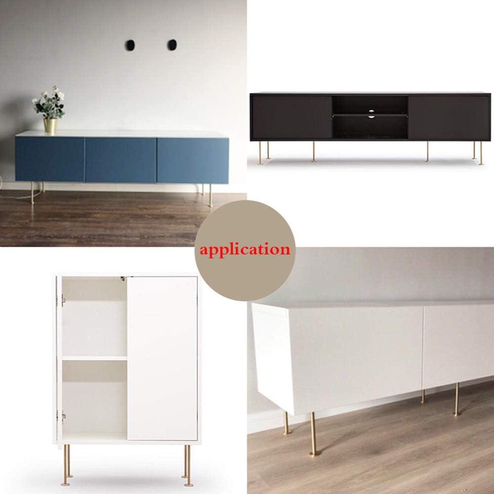 Set of 4 Furniture legs,Metal Adjustable Tea Table Leg,Sofa Support feet,Solid Polished Brass,DIY Accessories,Gold,Modern
