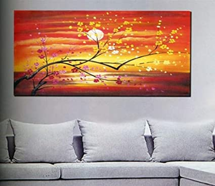 Amazon Com Modern Abstract Art Oil Painting Stretched Ready To Hang