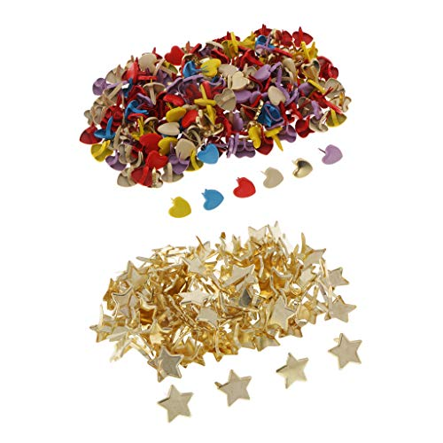 - Fityle 300 Piece Heart Star Head Split Pins Metal Brads Paper Fastener Decorative Brad for Scrapbooking DIY Craft Decoration