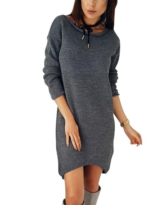 Moollyfox Mujer De Moda Blusa Casual Tops Largas Cuello V Blusa Asimétrico Túnica Camiseta Vestidos: Amazon.es: Ropa y accesorios