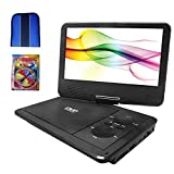 Sylvania 9' Swivel Screen Portable DVD Player with 5 Hour Rechargeable Battery (SDVD9019) - Essentials Bundle Includes, Trisonic Lens Cleaning Kit & CD/DVD Wallet