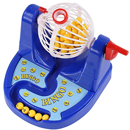HITSAN Mini Bingo Lottery Rotary Game Pocket Machine For Kids Families Fun Puzzle Desktop Party Toys One Piece by HITSAN