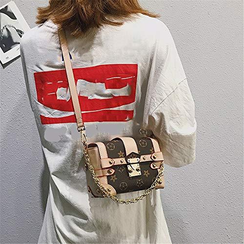 Cadena Damas Pequeño Femenino Mensajero bolso Bolso Moda Mini De Con Simple Informal bolso bandolera Caqui Marrón bolsa Femenino Cuadrado Negro Para Fannb 6zx7Yq7